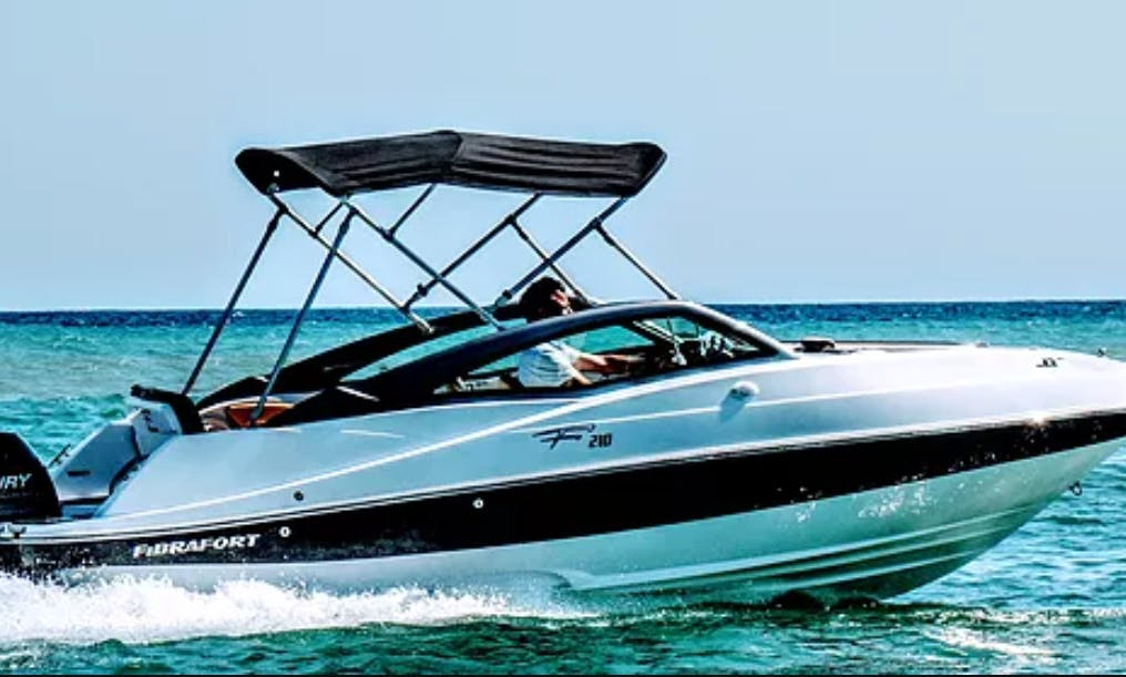 Luxurious Fibrafort 210 Bowrider for 8 People Available for Rent in Almuñécar, Spain