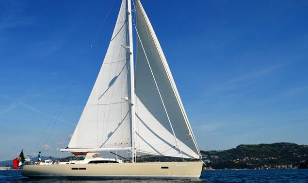 """Charter 72ft """"Terra Di Mezzo III"""" Cruising Monohull in Sardinia, Italy"""