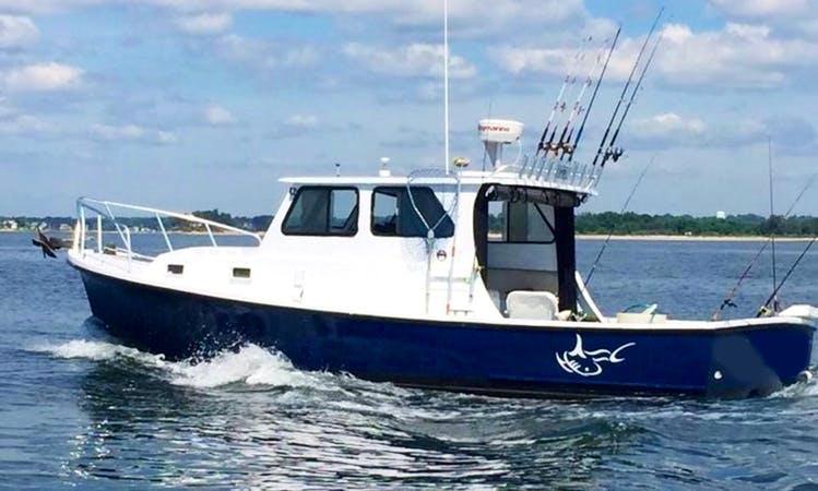 "Norwalk Fishing Charter on 32ft ""Pelagic Beast"" Boat with Captain Jason"