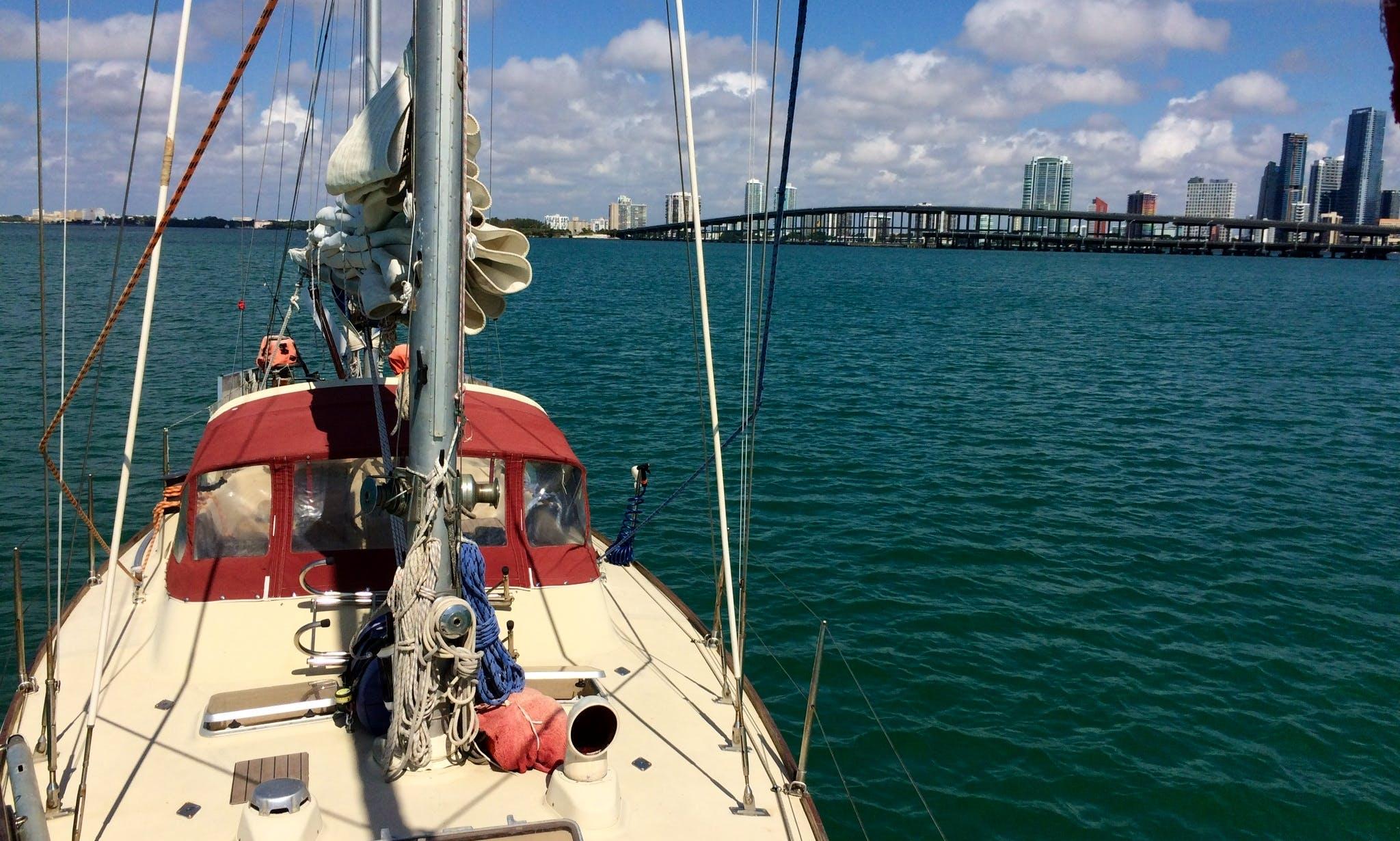 Come Sail Away in the Cruising Monohull rental in Miami!