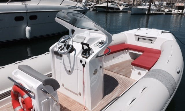 300 foot RIB rental for up to 10 guests in Setúbal, Portugal