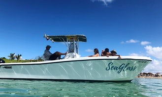 Rent SeaGlass a 28' Mako Private Boat to Explore the Beautiful St Maarten!