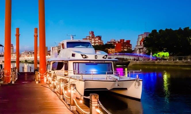 49' Party Boat for 30 people at Taipei Dadaocheng Wharf, Taiwan