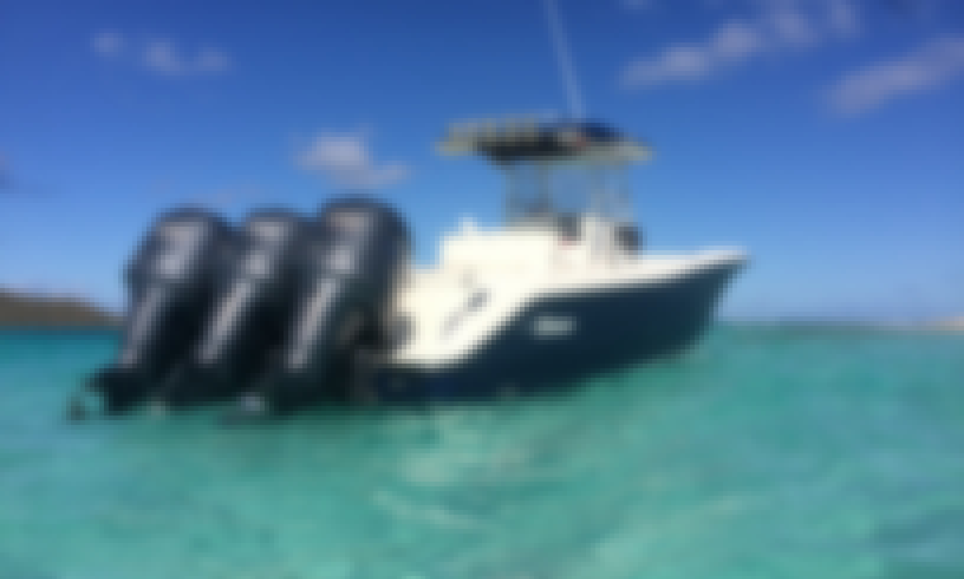 Fast 35' Triton for Luxury and Fun Water Activities in St. Thomas and St, John, US Virgin islands