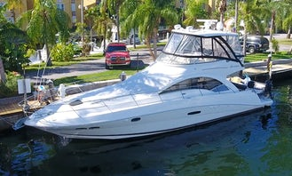 Party In Style On 51ft Sea Ray Flybridge Motor Yacht In Miami, Minimum 4 hours