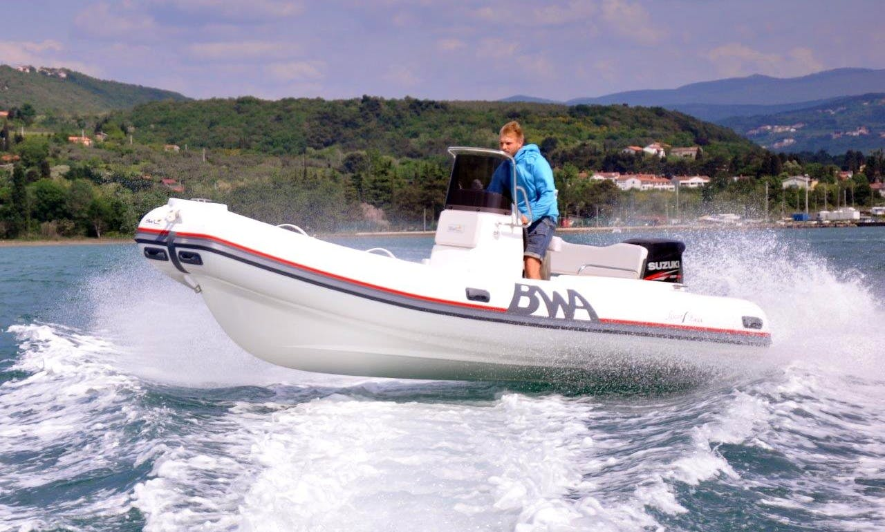 Rent BWA Sport 18 GT + Suzuki 100 RIB from Zadar and explore Northern Dalmatia