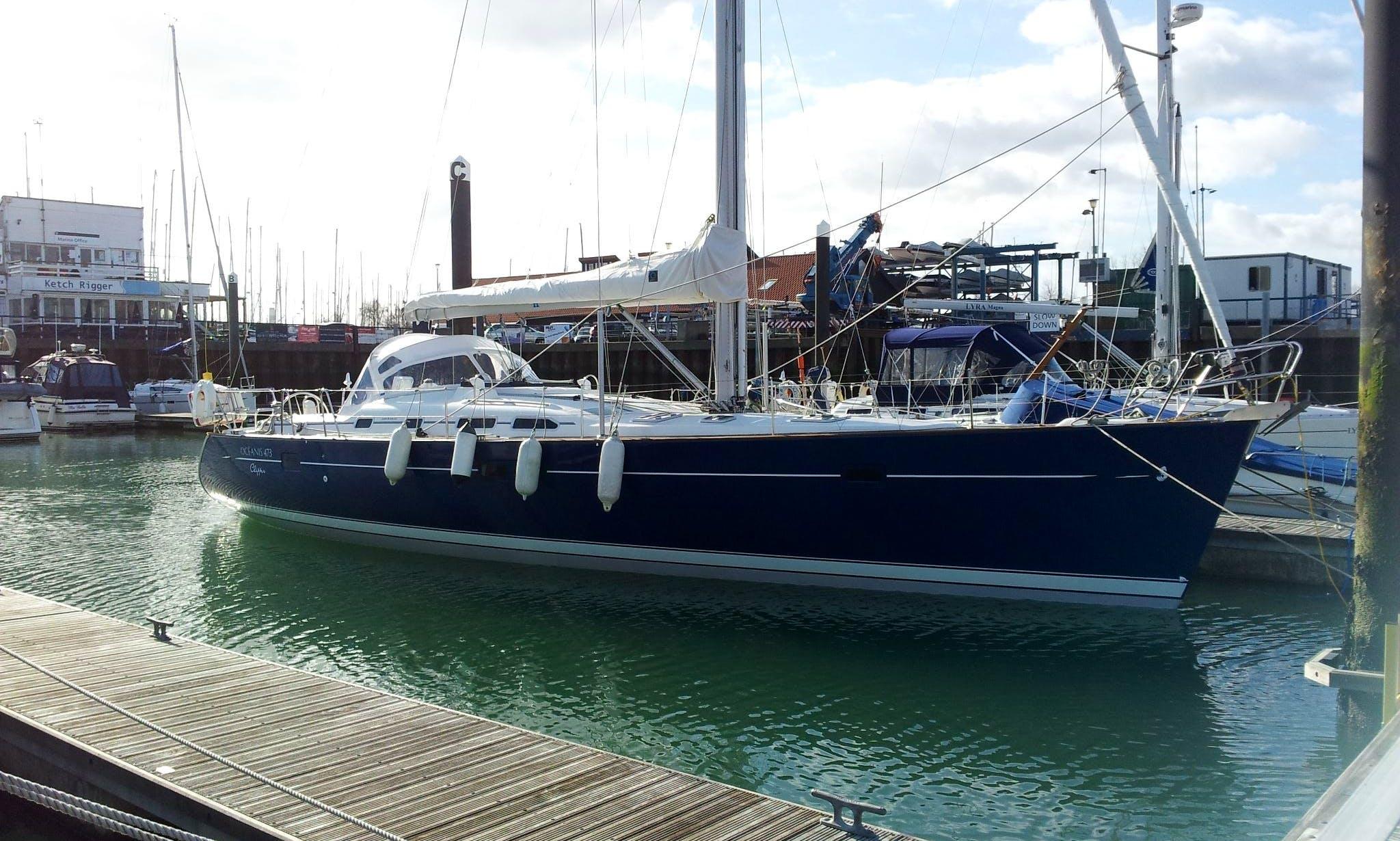 """Charter """"Nota Bene"""" Beneteau Oceanis 473 Sailing Yacht in Southampton"""