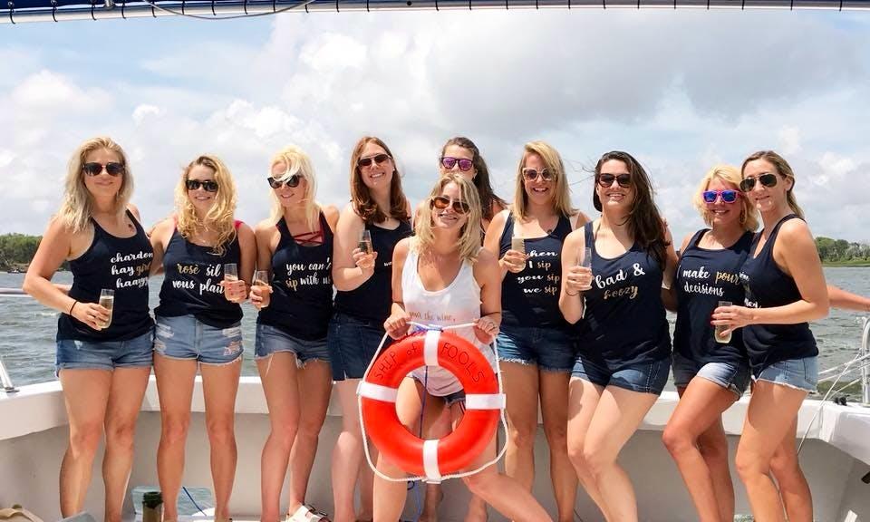 Bachelorette party boat rental in Charleston