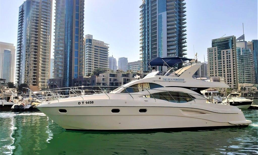 55 FT Luxury Yacht Rental Dubai Marina