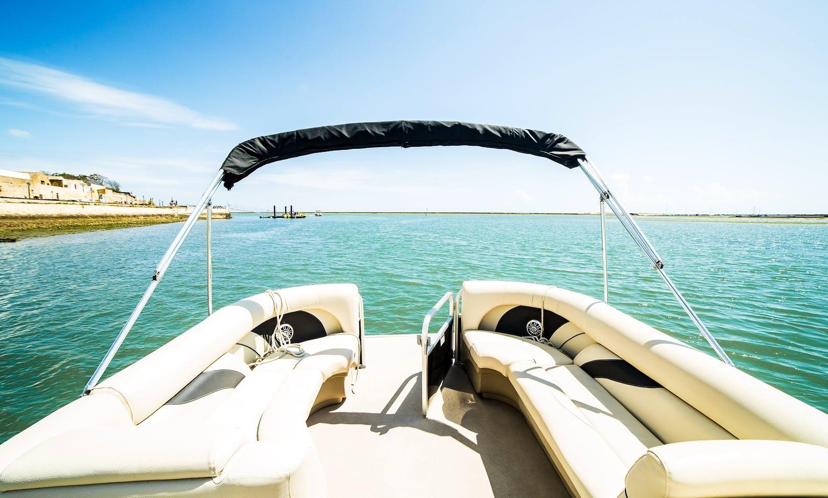 Pontoon Boat Rental in Ria Formosa, Faro, Algarve Portugal