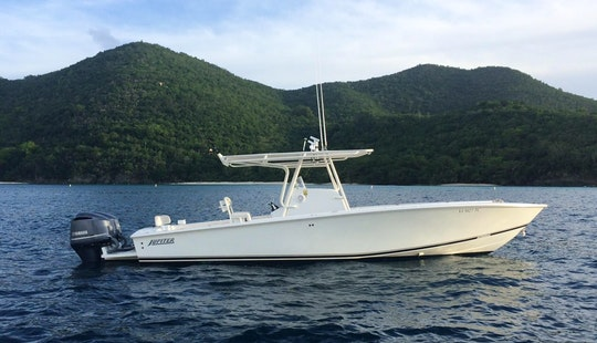 33' Jupiter Center Console Rental In St. Thomas, U.s. Virgin Islands