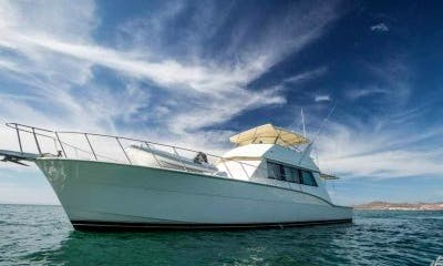 60' Hatteras Power Mega Yacht Rental in Baja California Sur, Mexico for 15 person!