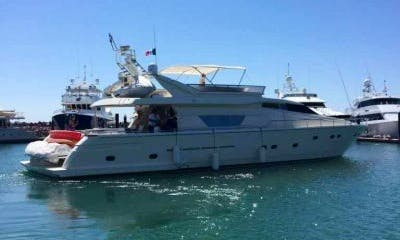 80' Ferretti Power Mega Yacht Rental in Baja California Sur, Mexico for 8 person!
