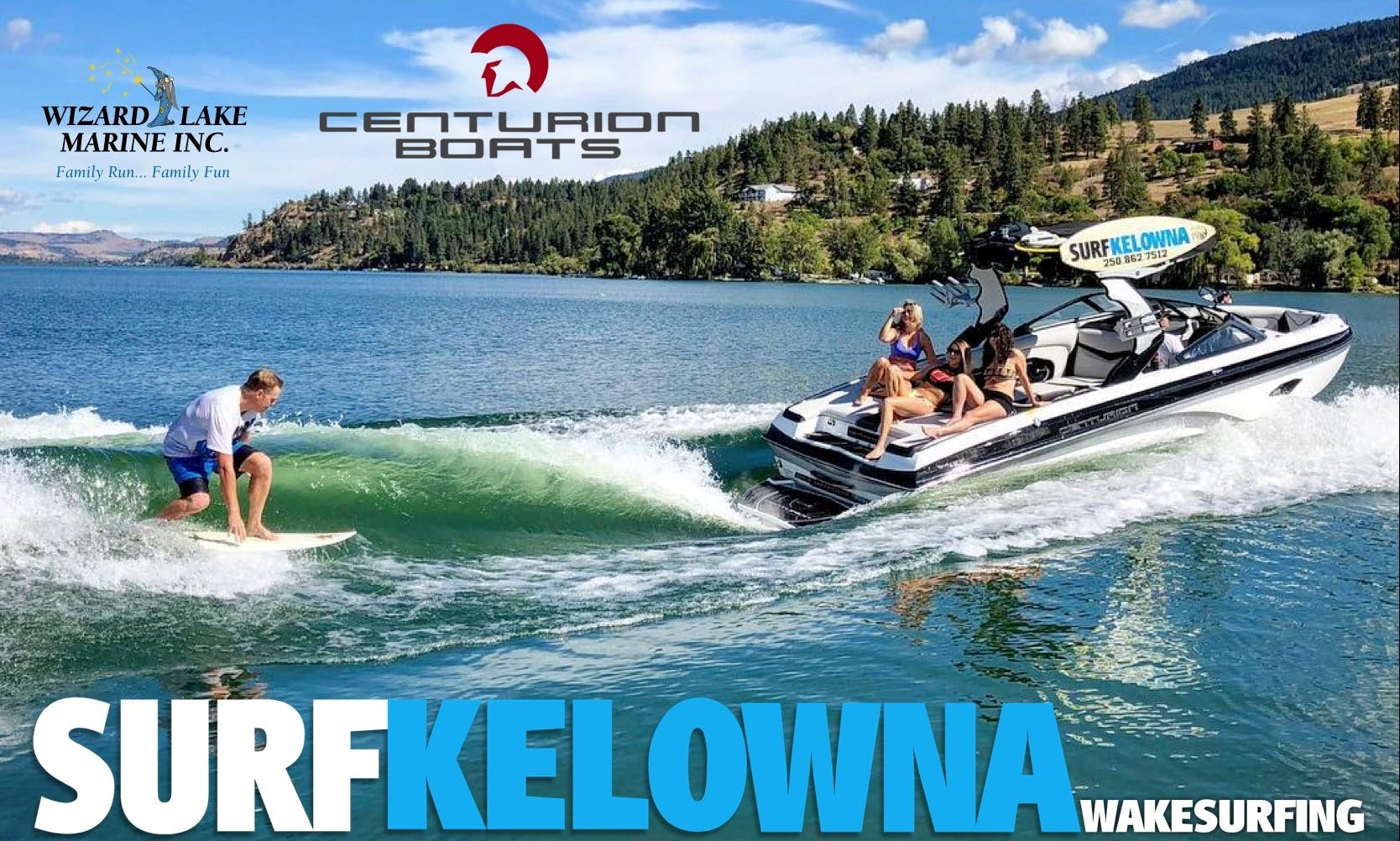 23' Centurion FI23  Bowrider Boat Charter In Lake Country, British Columbia