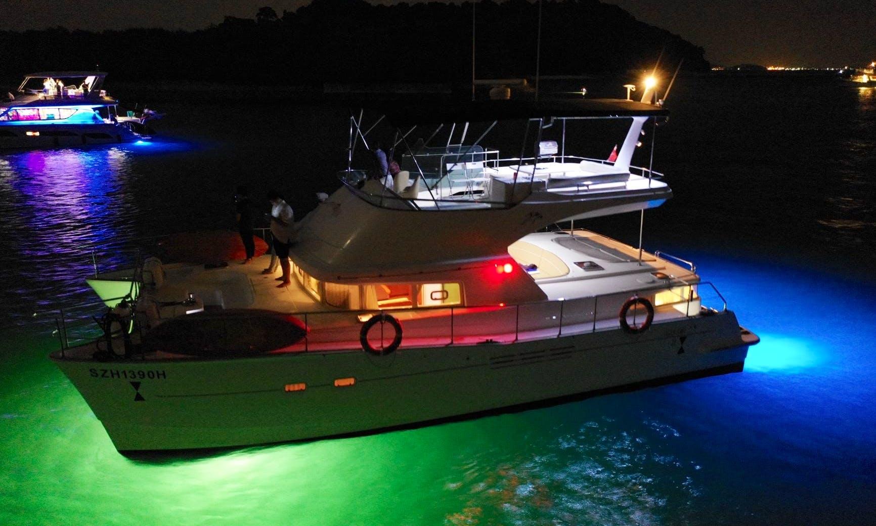 Power Catamaran for rent in Singapore