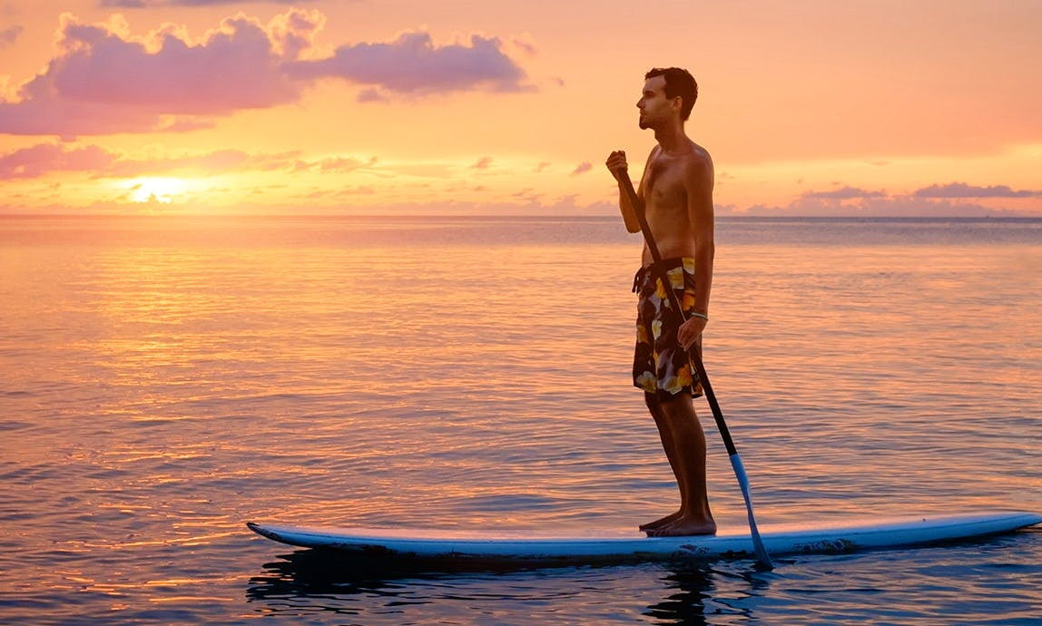 Sunset Paddleboard Tour in Peanut Island (Every Saturday Evening)