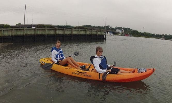 Tandem and Fishing Kayak for Rent in Wrightsville Beach