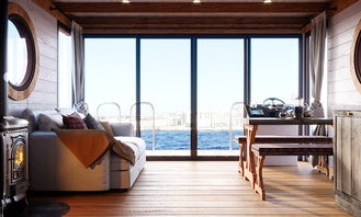 """Luxurious """"Houseboat Eco-Wood 36 m2"""" charter in Finland"""