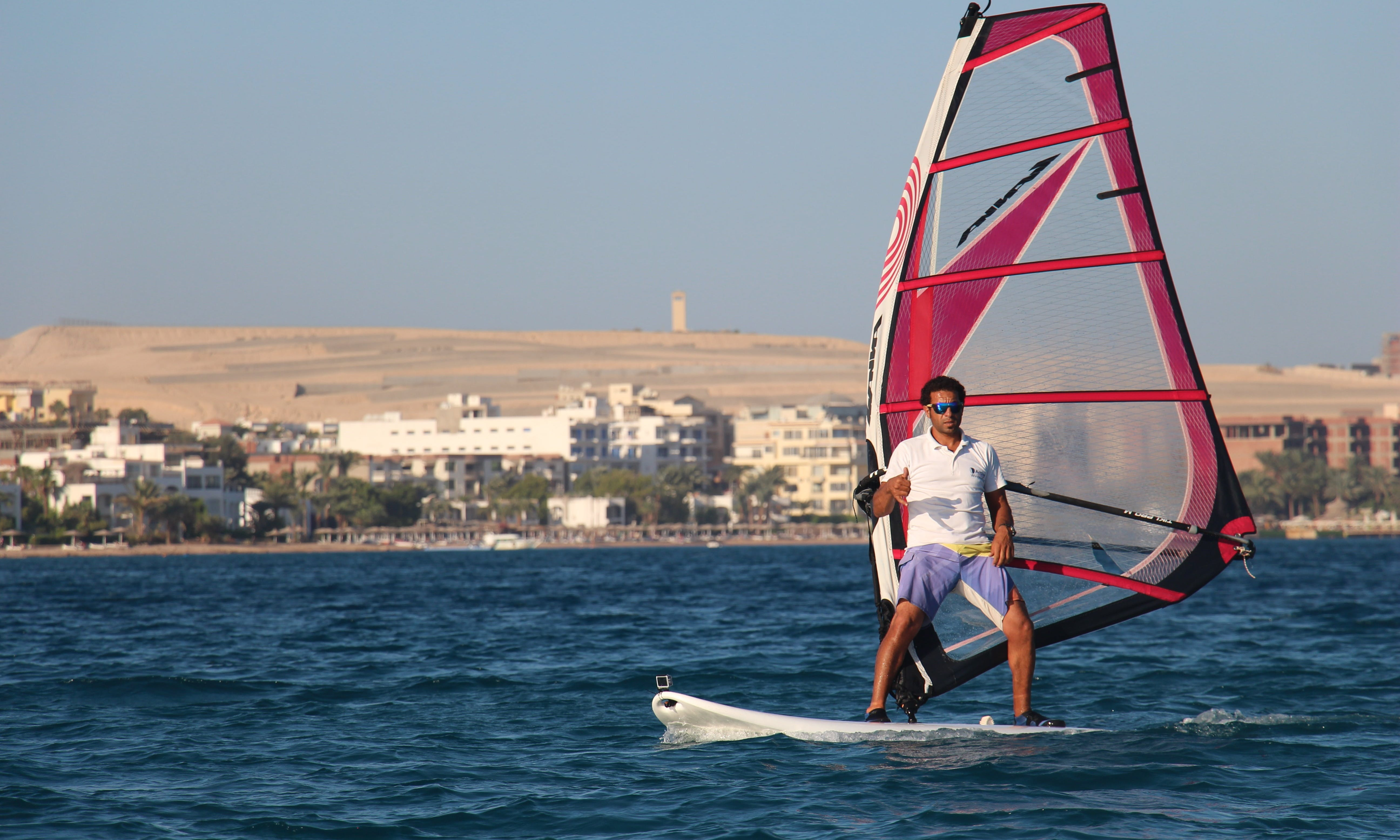 Amazing windsurfing with WWS-instructors of Kite-Active Team in Red Sea, Hurghada