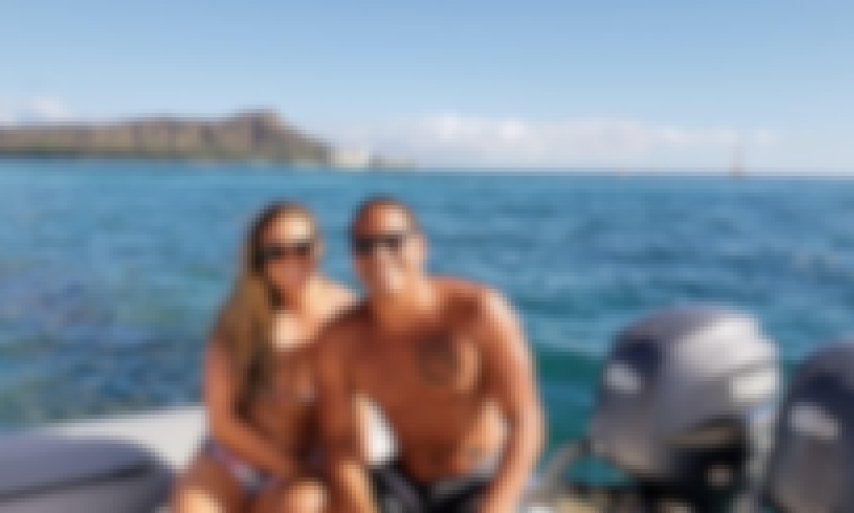 Boat in Honolulu, Hawaii onboard 30' Zodiac Pro