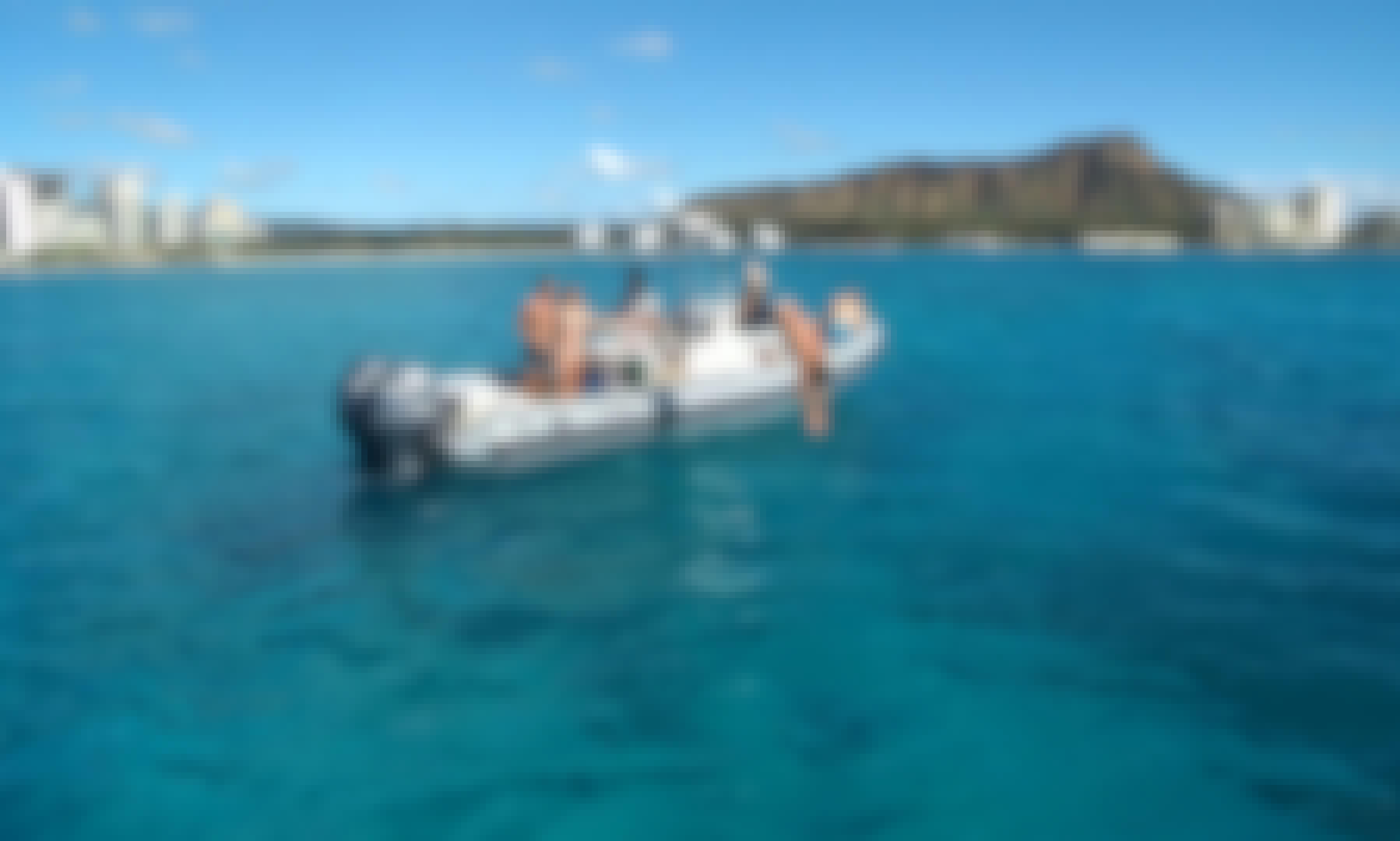 Boat Adventure Tour in Honolulu, Hawaii onboard 30' Zodiac Pro