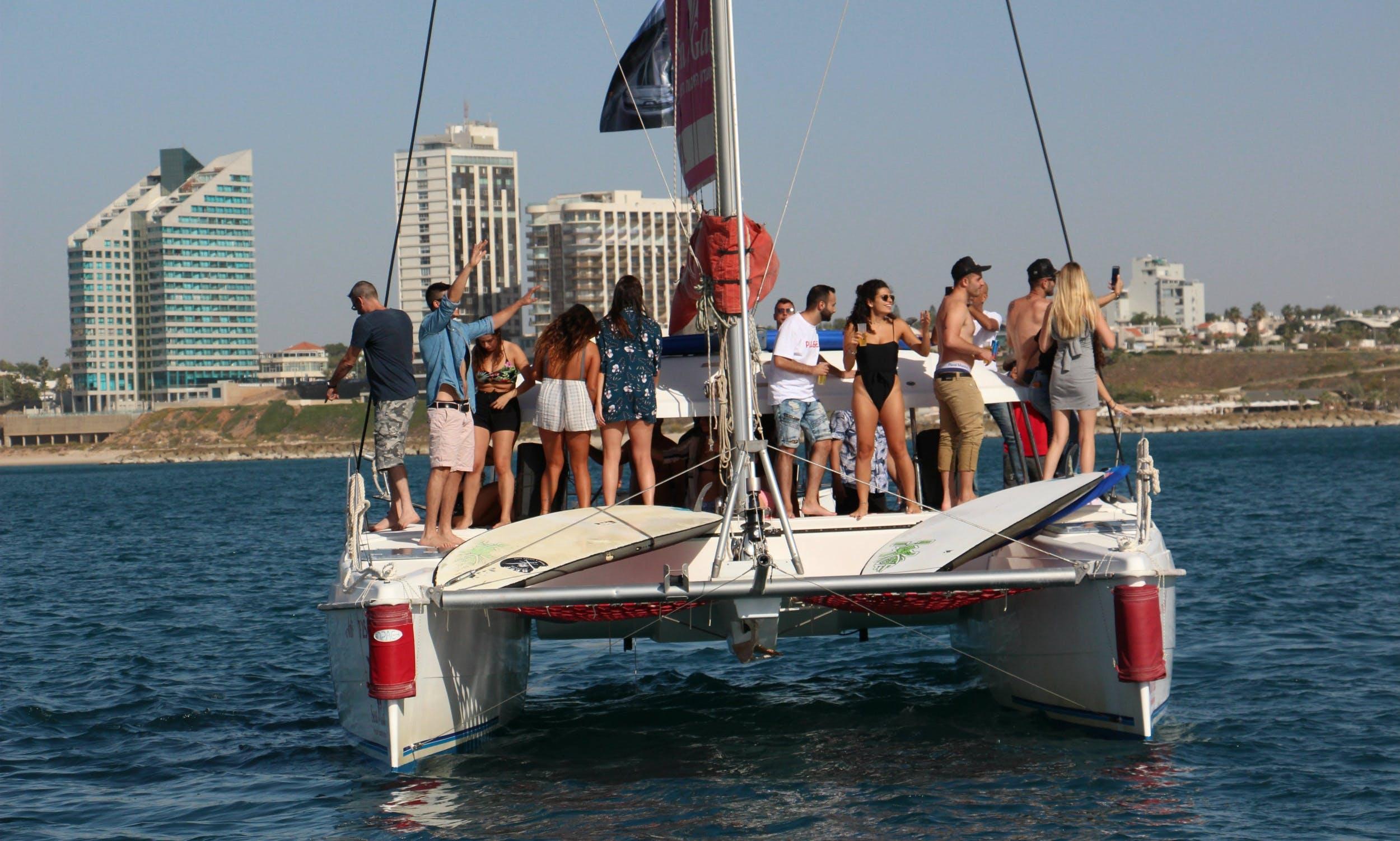 36' Aventura Cruising Catamaran Tour in Herzliya