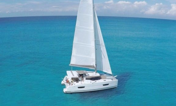 Explore Rodney Bay On 39' Lucia Cruising Catamaran!