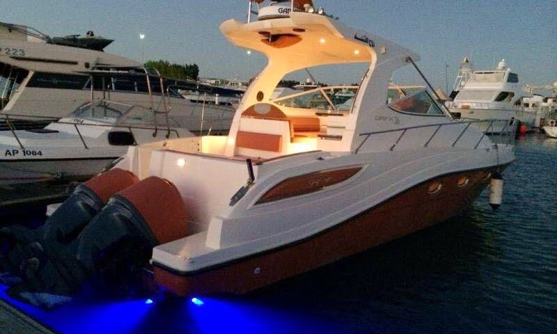 Charter This Beautiful 36' Motor Yacht With Your Family in Abu Dhabi, UAE!