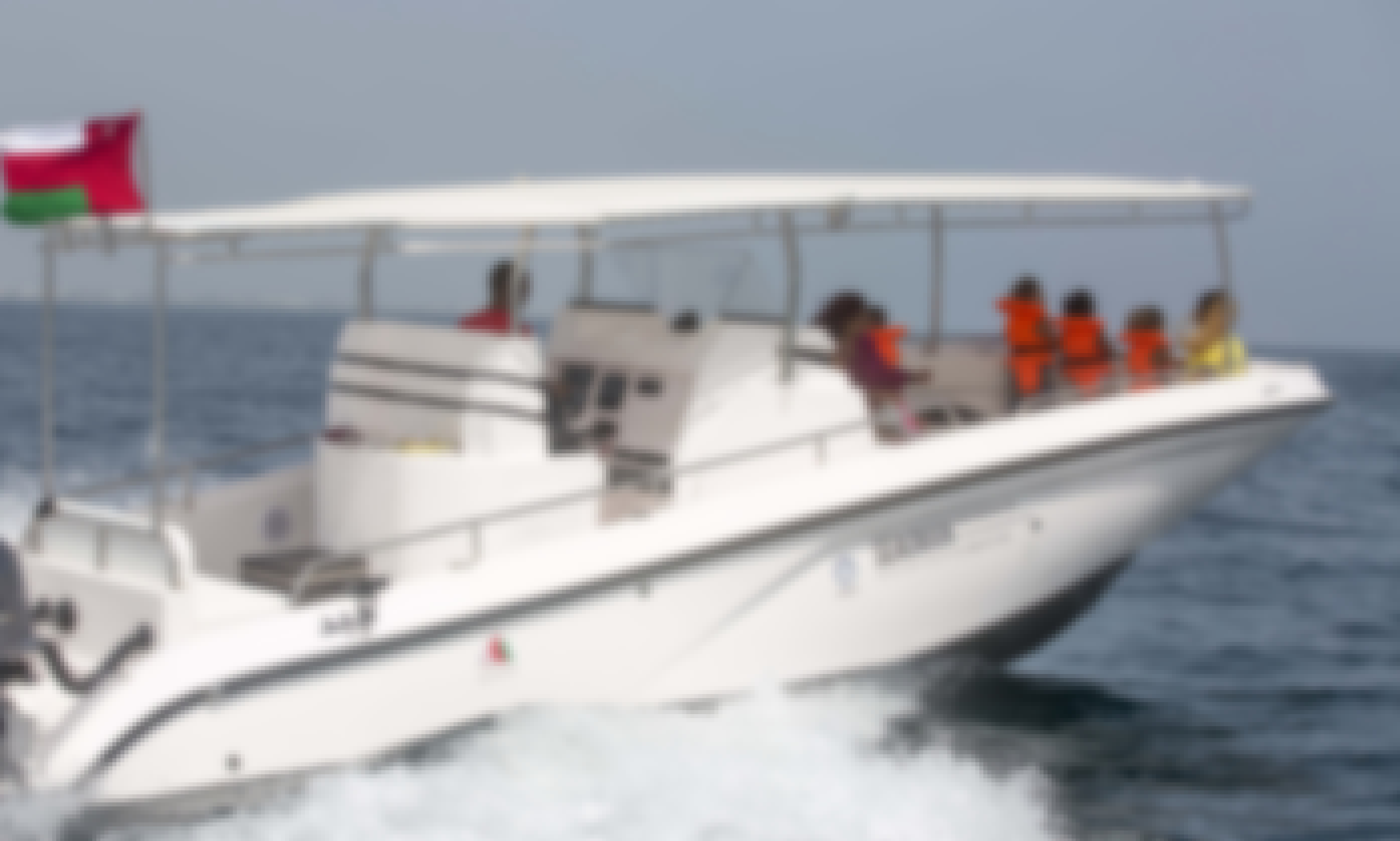 SEA OMAN 32ft Powerboat with skipper
