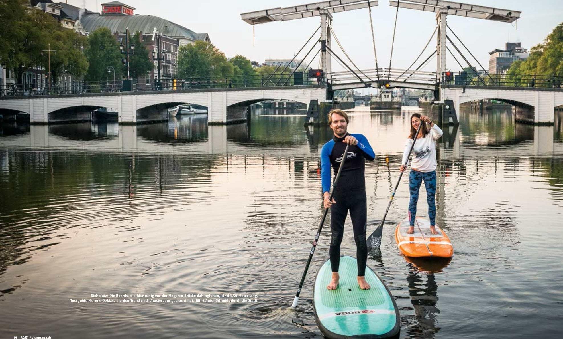 Paddleboard in Amsterdam