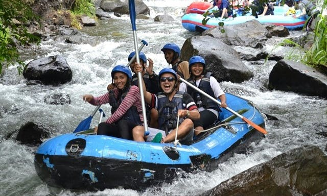 River Rafting Adventure on Ayung River in Bali, Indonesia