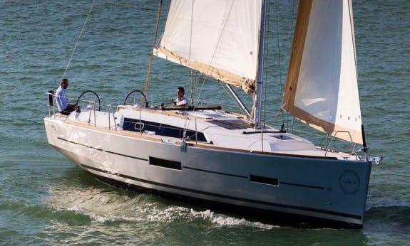 Sail Malta onboard Dufour 382 Liberty Cruising Monohull