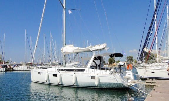 The best way to travel is onboard the 2018 Oceanis 48 Cruising Yacht in Pozzuoli