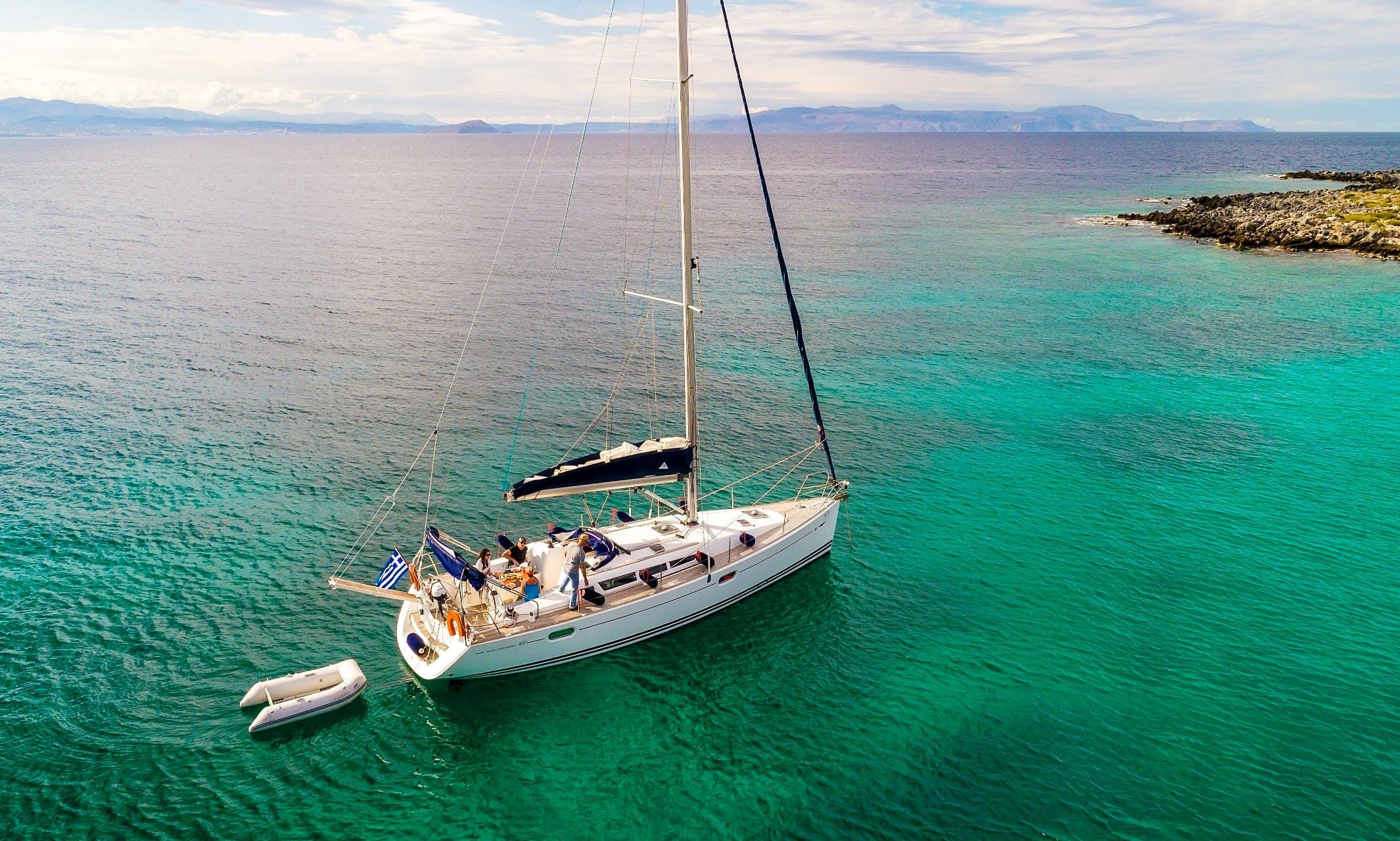 Jeanneau Sun Odyssey 42i Sailing Yacht Charter in Chania, Greece