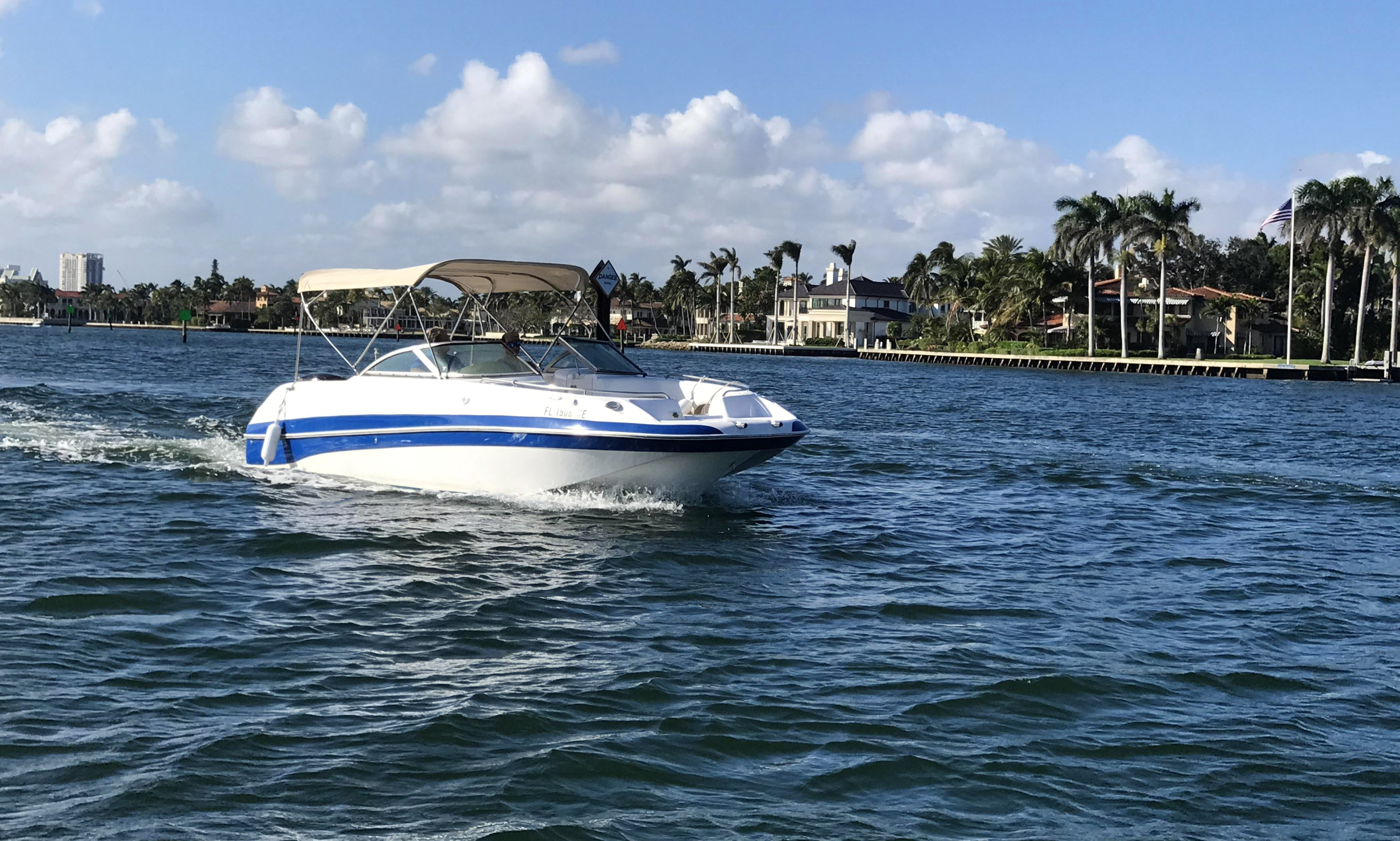 24ft Nauticstar Deck Boat rental in Fort Lauderdale for $121 an hour