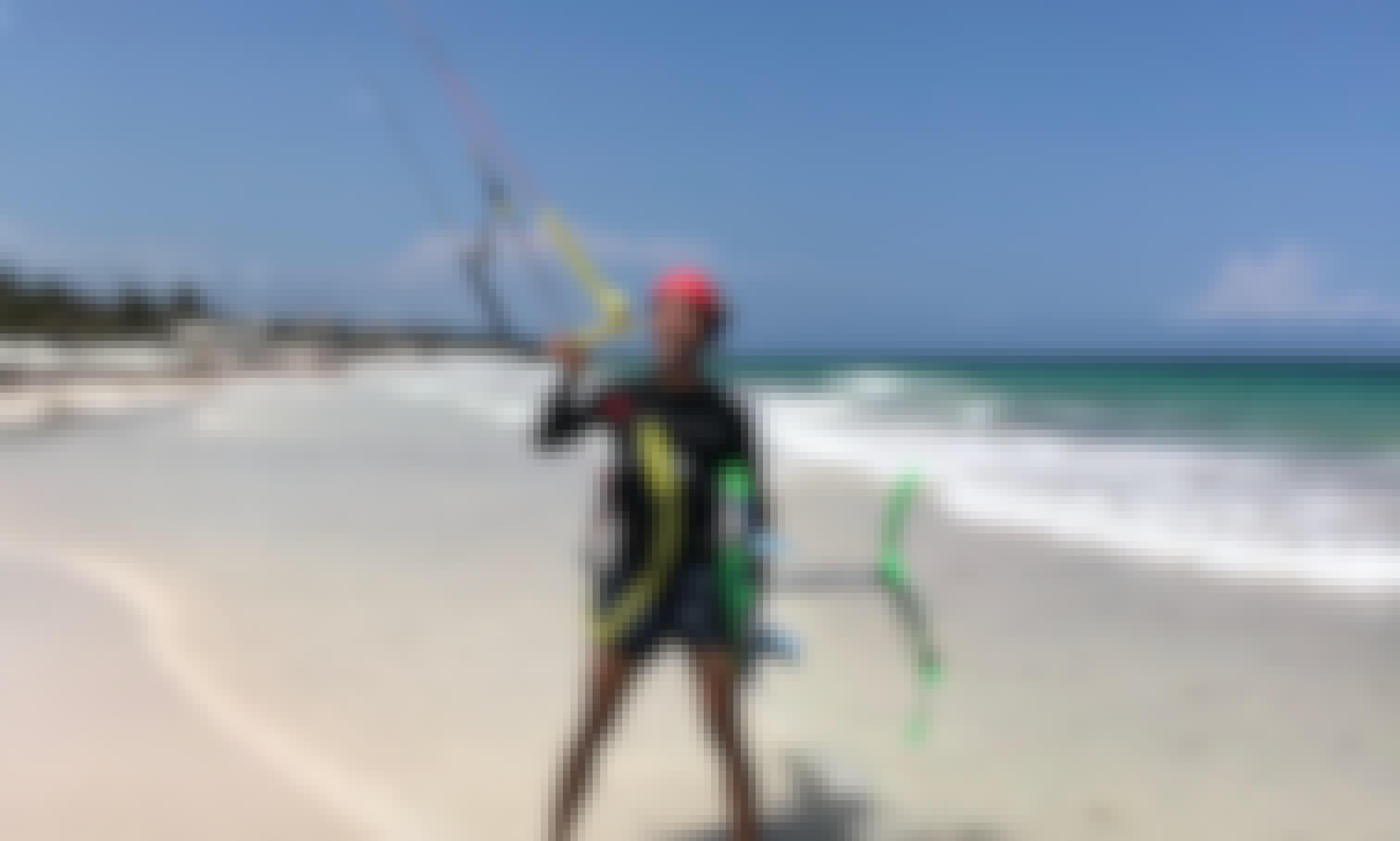Kiteboarding in El Cuyo Yucatán with Extreme Control Adventures