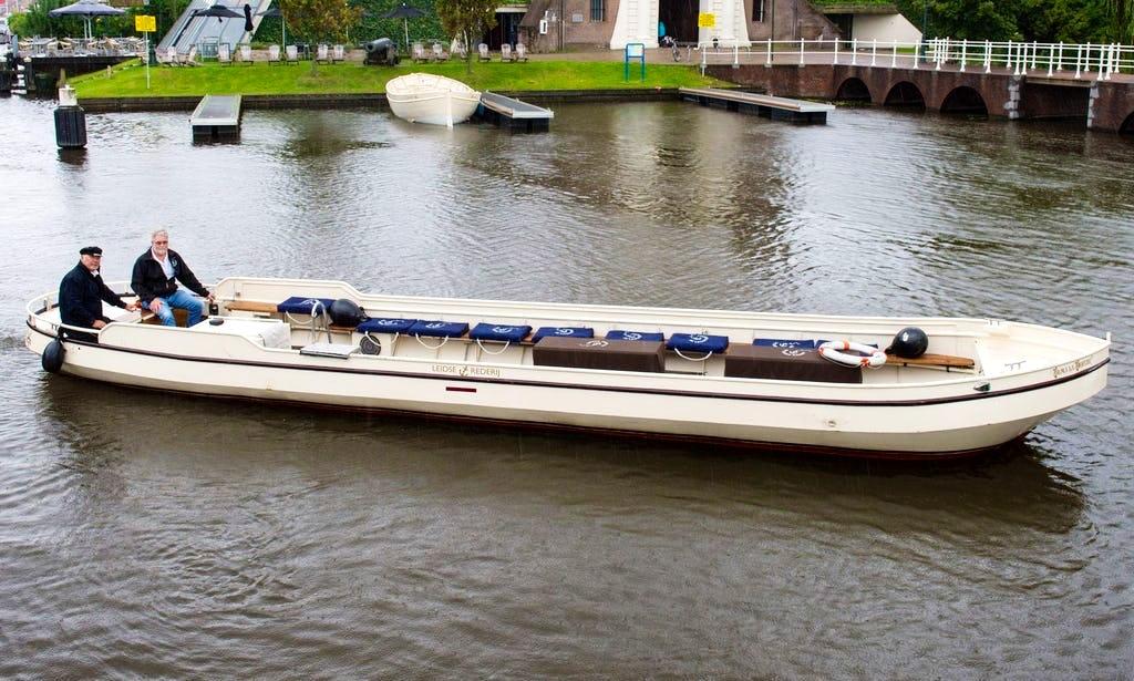 Flat boat in netherlands