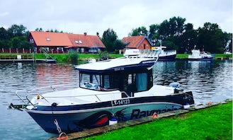 4 People Barracuda Power Boat Ready to Rent in Klaipėda, Lithuania