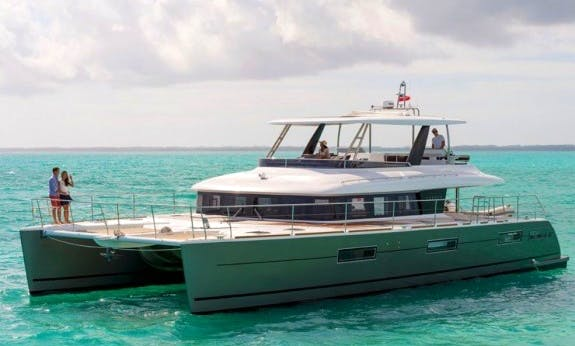 Hassle Free Crewed Lagoon 630 Power Catamaran in Nassau, The Bahamas
