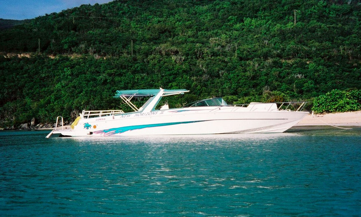 Charter a 44 ft Motor Yacht for 19 People in St. Thomas, US Virgin Islands