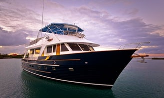 65 ft Motor Yacht Charter for 6 Guests in Exumas, Bahamas