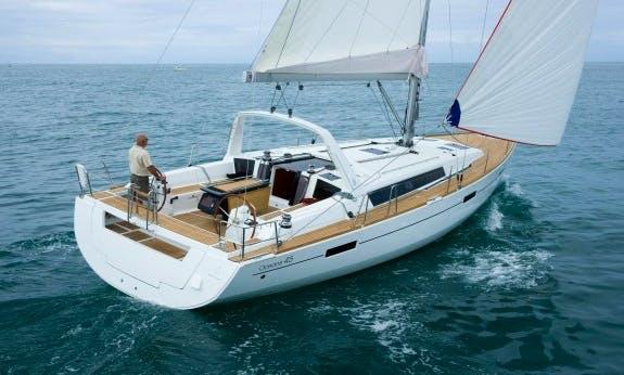 Reserve The Oceanis 45 Cruising Monohull In Olbia, Sardinia