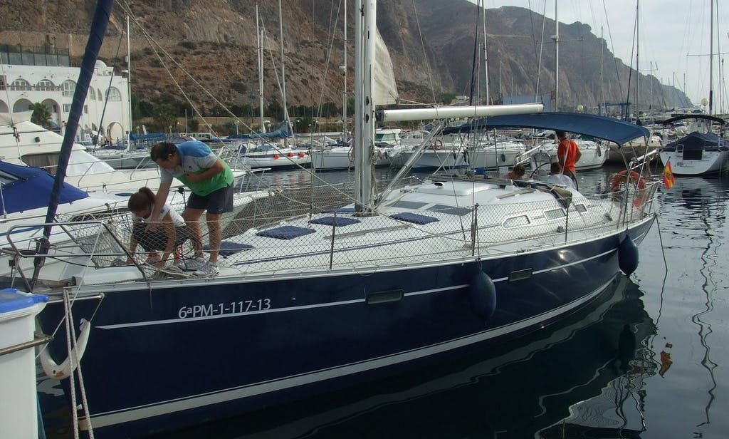 Beneteau 39 Sailing Yacht for 11 People in Aguadulce, Spain