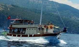 60-Person Passenger Boat rental in Muğla, Turkey