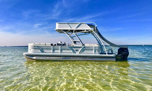 8-Person Luxury Pontoon with Slide for Rent in Destin, Florida