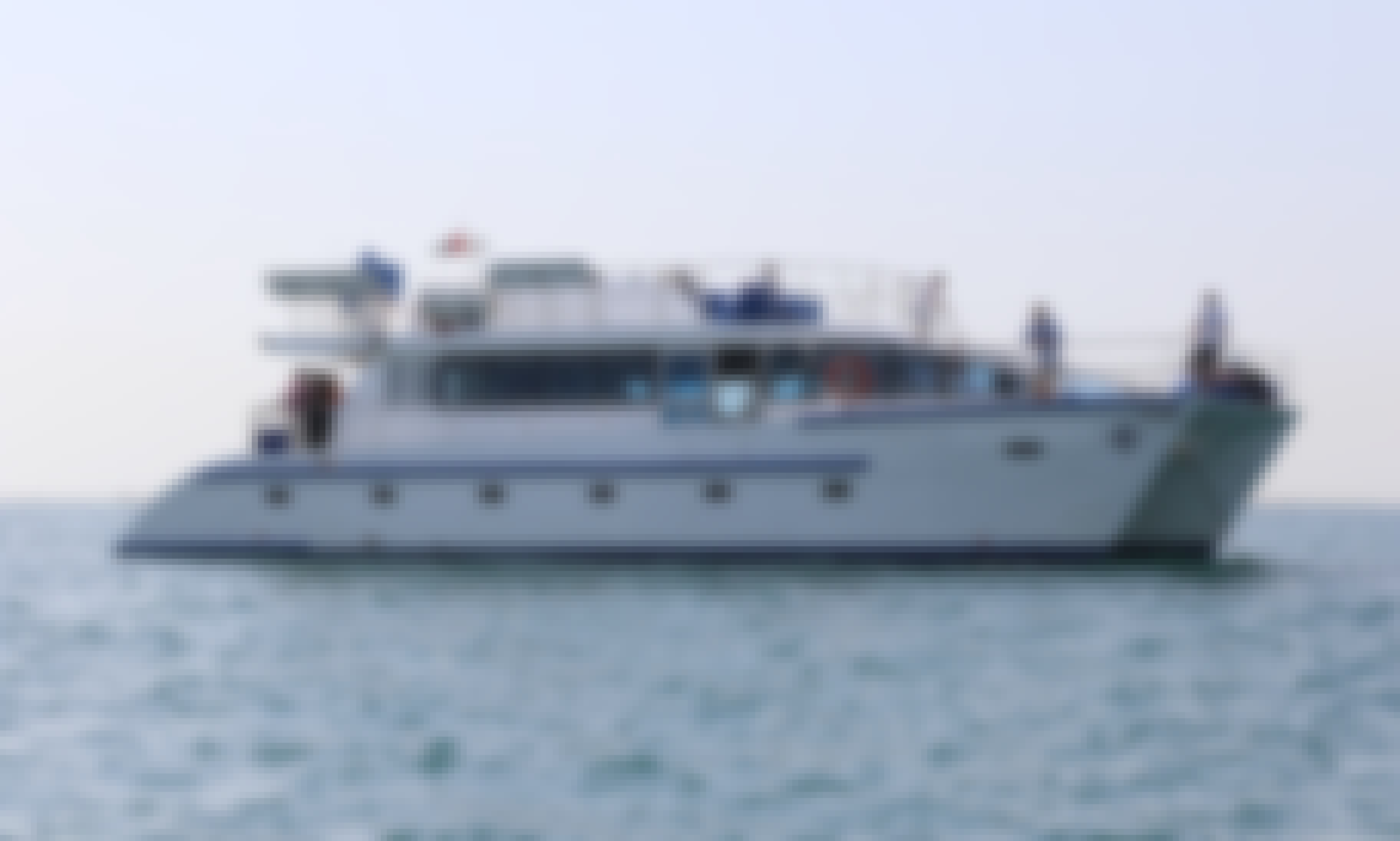 Best Yacht for Events in Dubai -  64' Power Catamaran Charter for up to 50 guests!