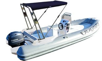 Hire this Expo King Inflatable Boat for 8 People in Cannigione