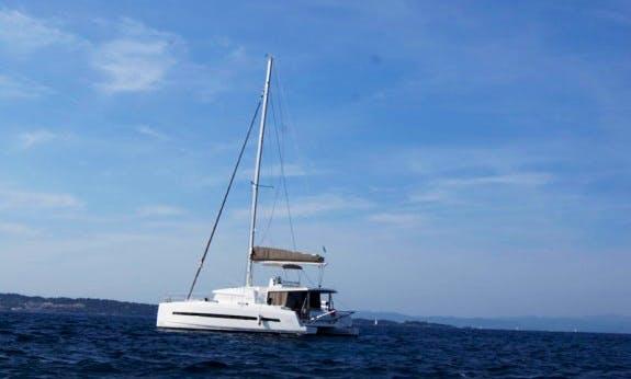 Sailing Vacation in Raiatea, Tahiti On 45' Bali Sailing Catamaran