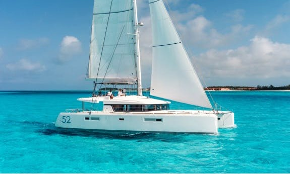 52' Lagoon F Sailing Catamaran Ready For Rental In Raiatea, Tahiti