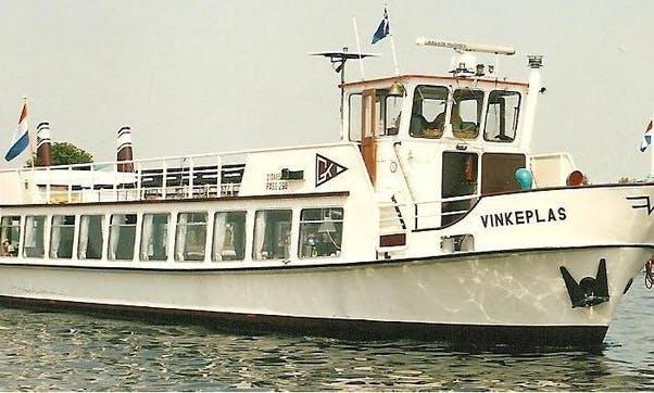 Passenger Boat Charter for Up to 100 People in Vinkeveen, Netherlands